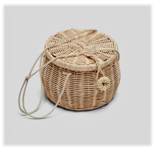Small Round Basket Bag