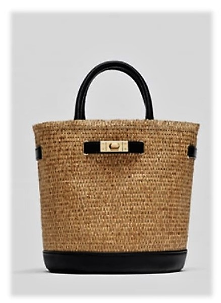 Two-Coloured Basket Bag