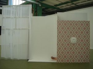 Ein Porträt; 2007; Installation; Beton, Acrylfarbe; Grösse variabel