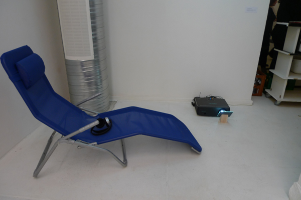 Swimmingpool; 2011; Deckenprojektion, Ton über Lautsprecher