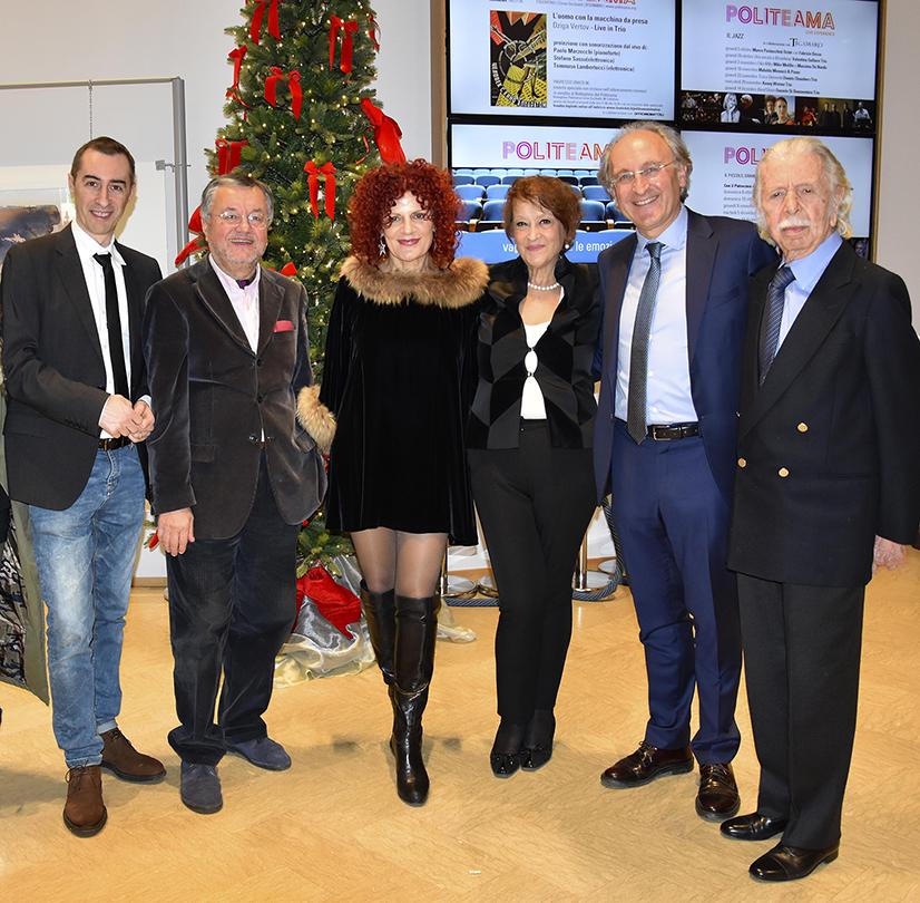 Artisti ed organizzatori, da sinistra: Meldolesi, Iacomucci, Fogante, Gentili, Ciambotti, Gregoretti