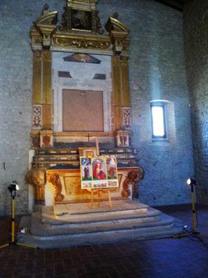 The polyptich in Santa Maria delle Grazie