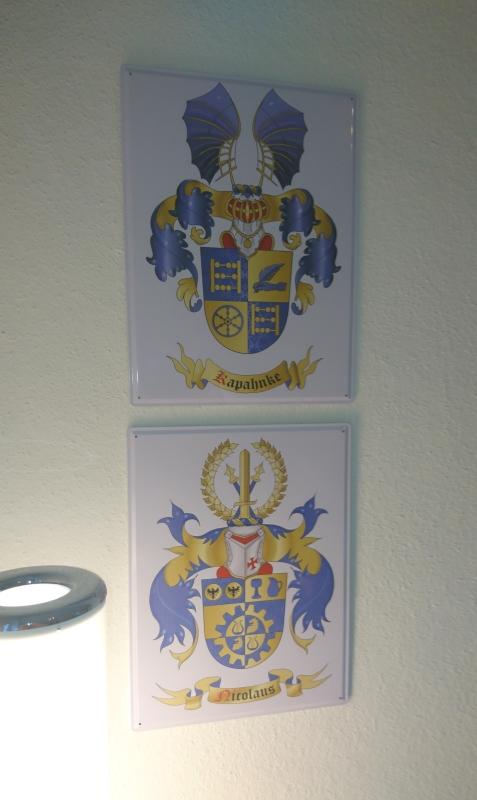 Blechschild mit Wappen