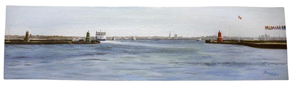 MatsMüller, Helsingörs hamn, 69x19cm