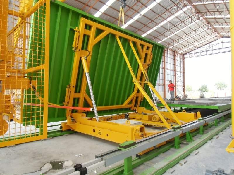 Estation basculante, linea de producción paneles de hormigón
