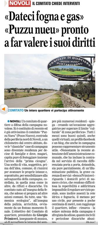 La Gazzetta del Mezzogiorno, 16/2/2012