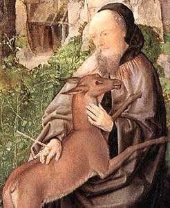 Saint Gilles et sa biche