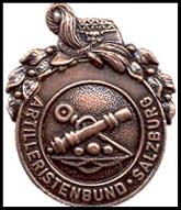 Vereinsabzeichen in Bronze Artilleristenbund Salzburg