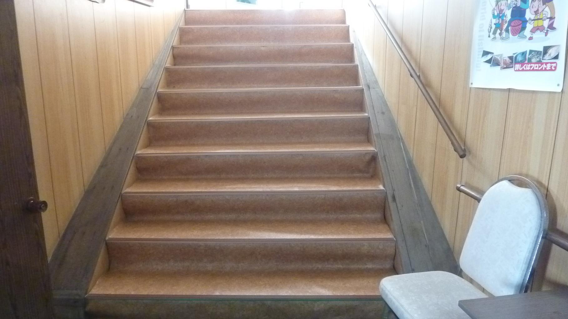 階段です。足元ご注意してください。