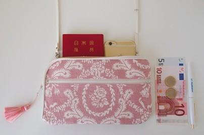 お財布ショルダー【ラージサイズ】ジャガードピンク