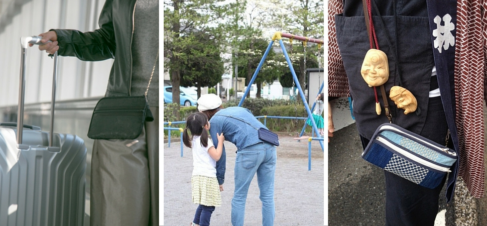 お財布ショルダーはこんなシーンに便利:旅行、ママと子どもの公園遊び、お祭り