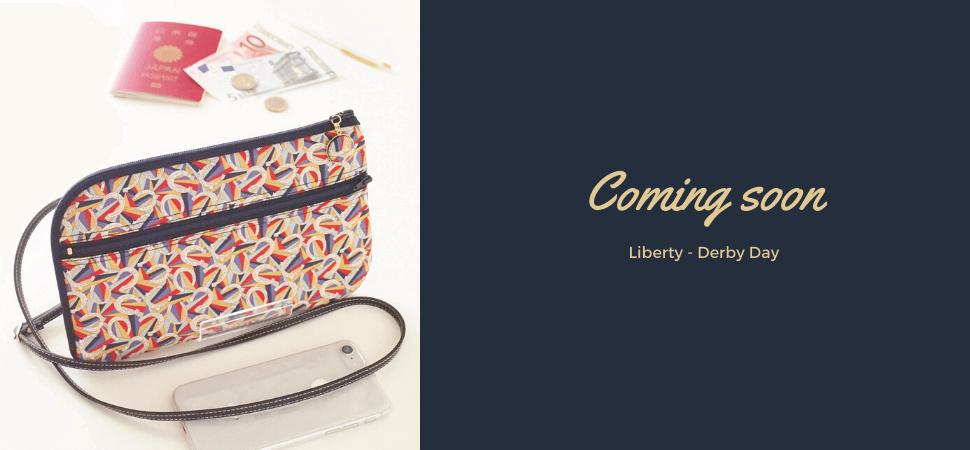 リバティプリント・ダービーデイで作ったお財布ショルダーバッグ