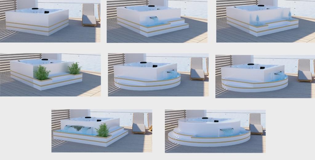 spas au design exclusif gilbert piscines sas. Black Bedroom Furniture Sets. Home Design Ideas