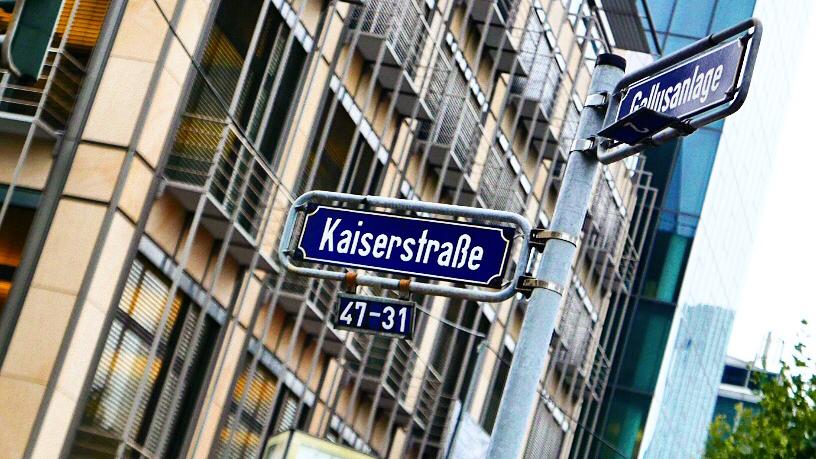Straßenschilder Frankfurt