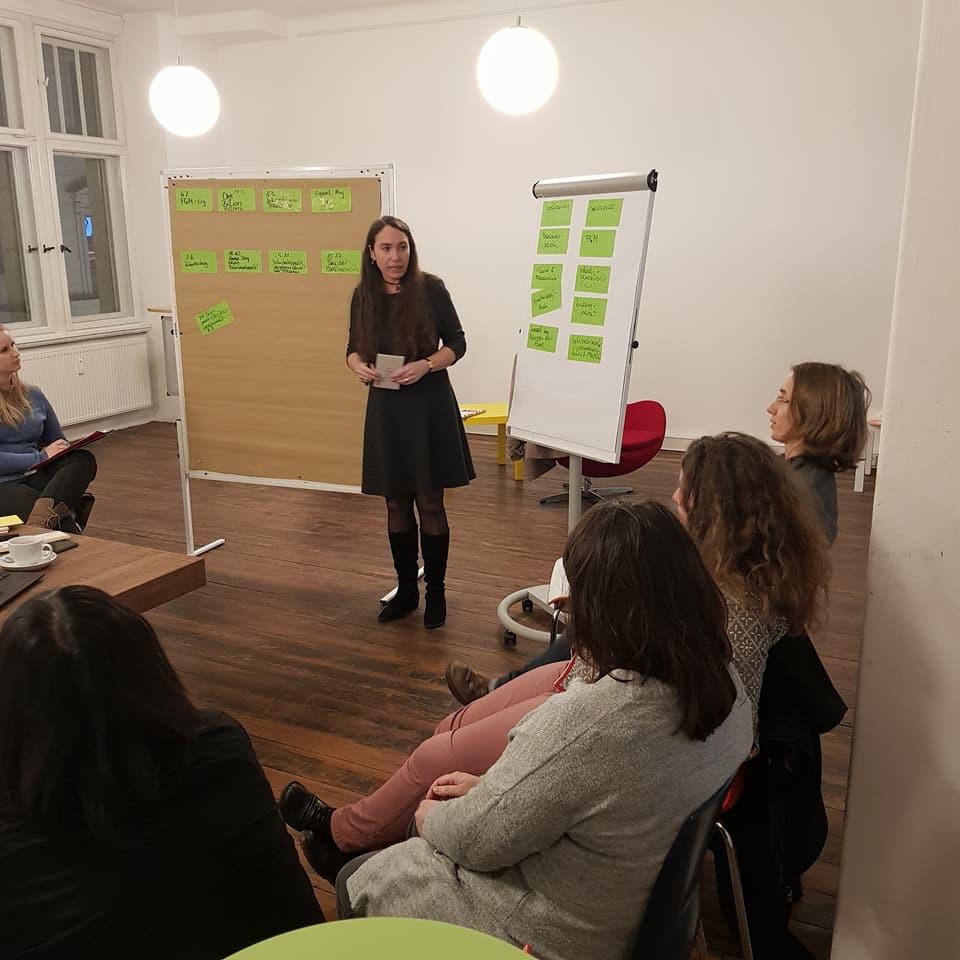 Das erste Projekt war eine Veranstaltung zum Internationalen Frauentag am 8.3.