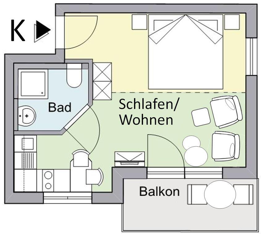 Grundriss Kirschen-Wohnung