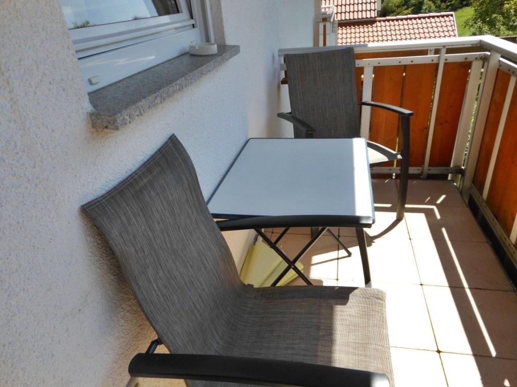Balkon Zwetschgen-Wohnung
