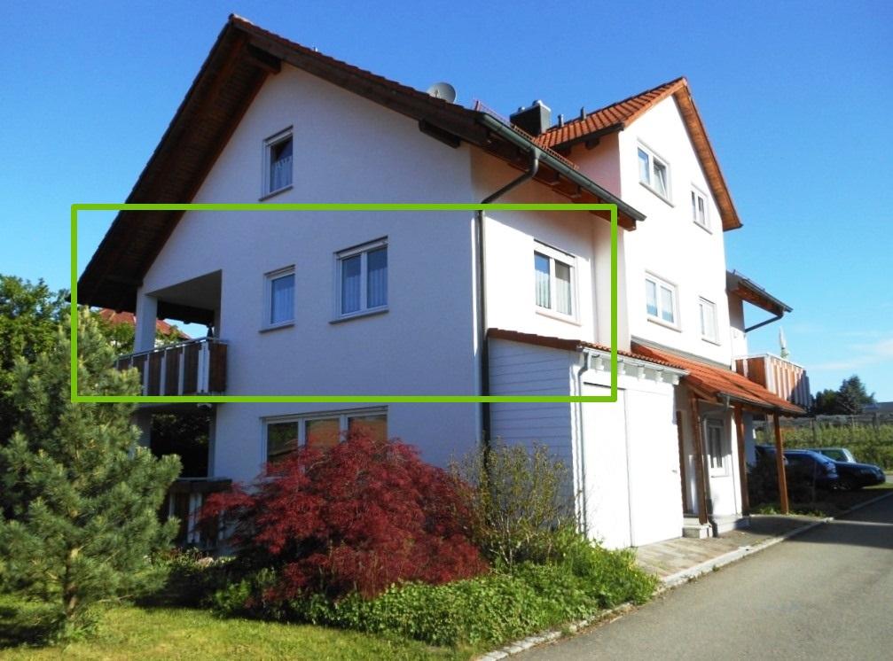 Lage der Apfel-Wohnung im Ferienhaus Mina