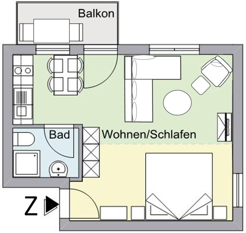 Grundriss Zwetschgen-Wohnung