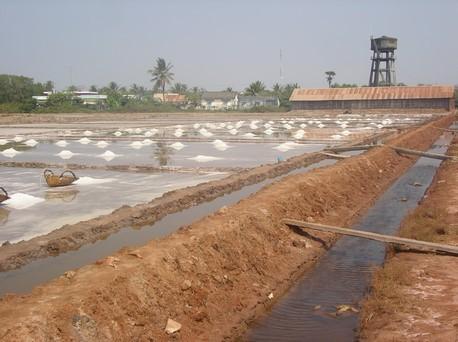 Marais salants entre Kampot et Kep