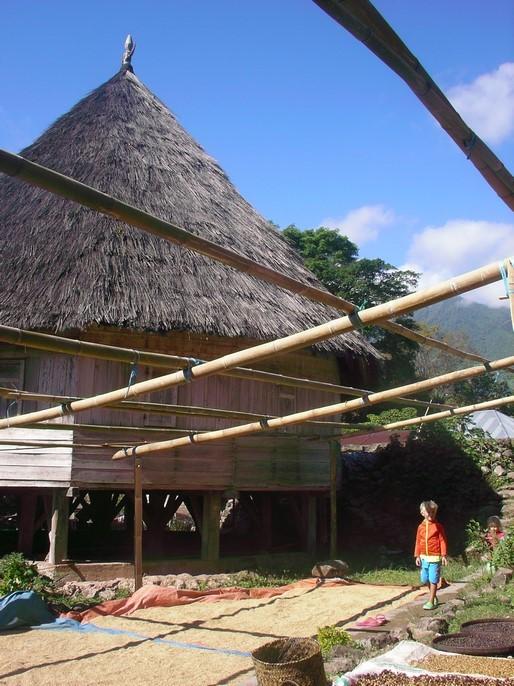 Habitat avec toit conique