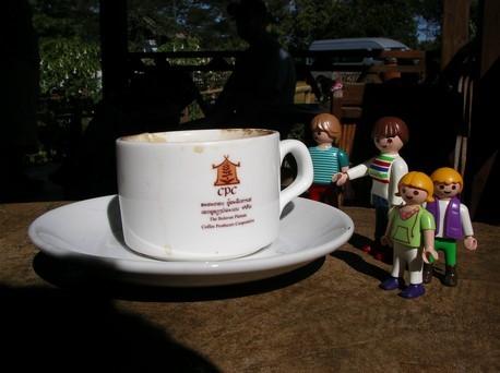 Dégustation de café ...