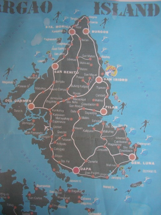 Tour de l'île de Siargao - départ de General Luna au sud est