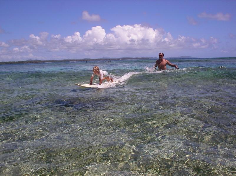 Cours de surf avec Mael - position 1