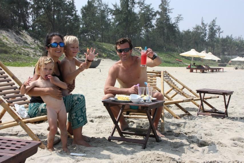Déjeuner sur le plage