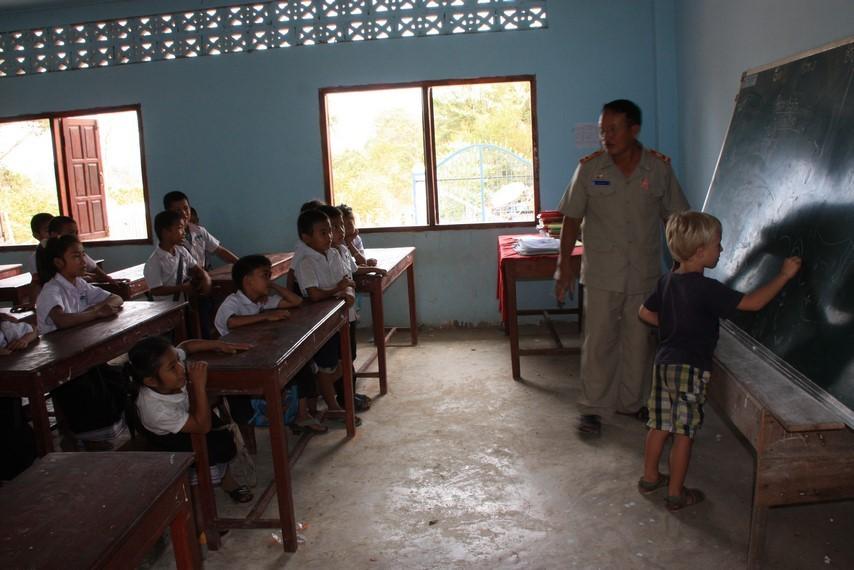 Ecole soutenue par Champa Lao à 15 km de Pakse