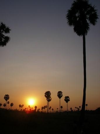 Coucher du soleil au village de Kol