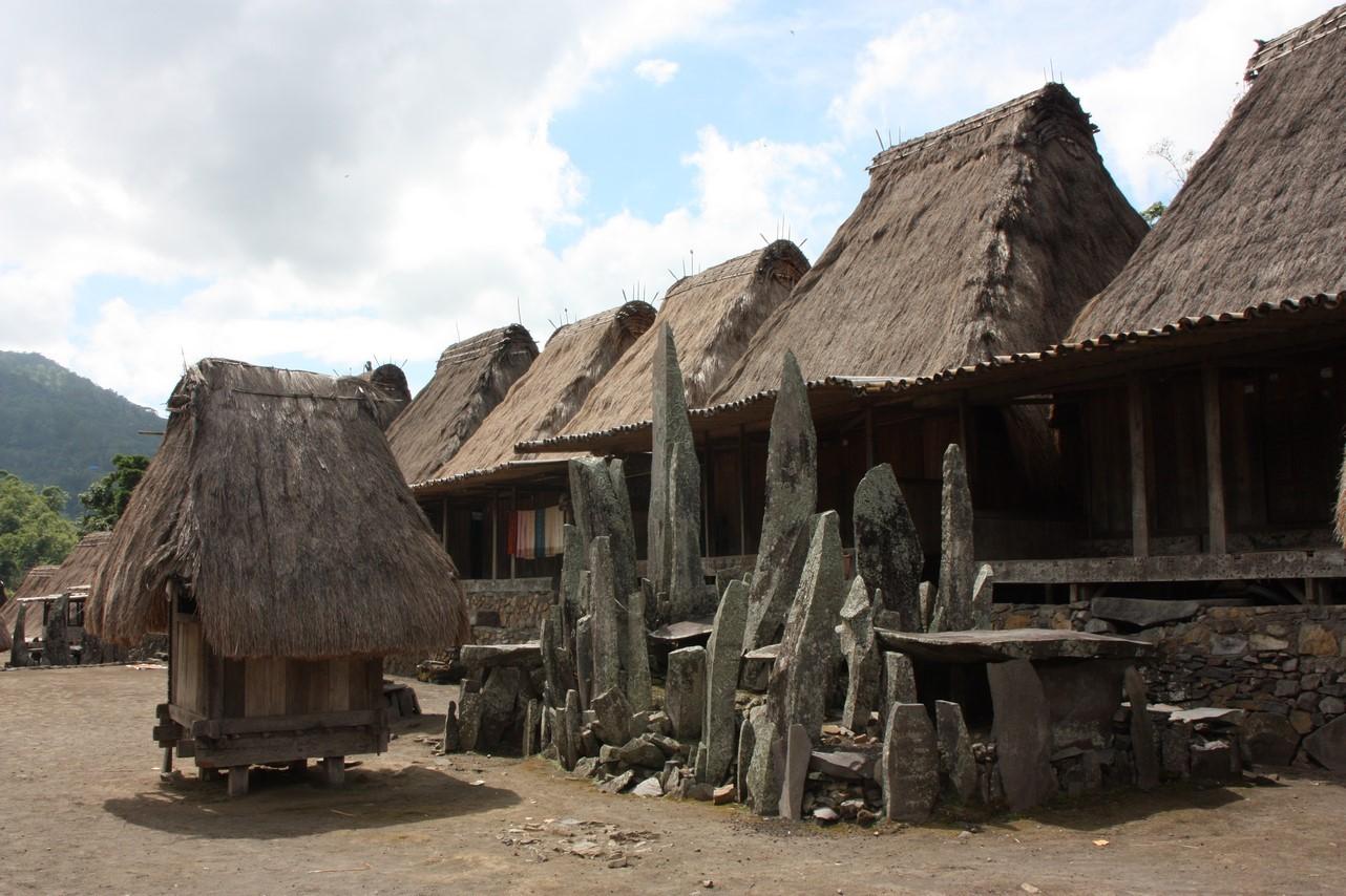 Habitat traditionnel dans une société matriarcale