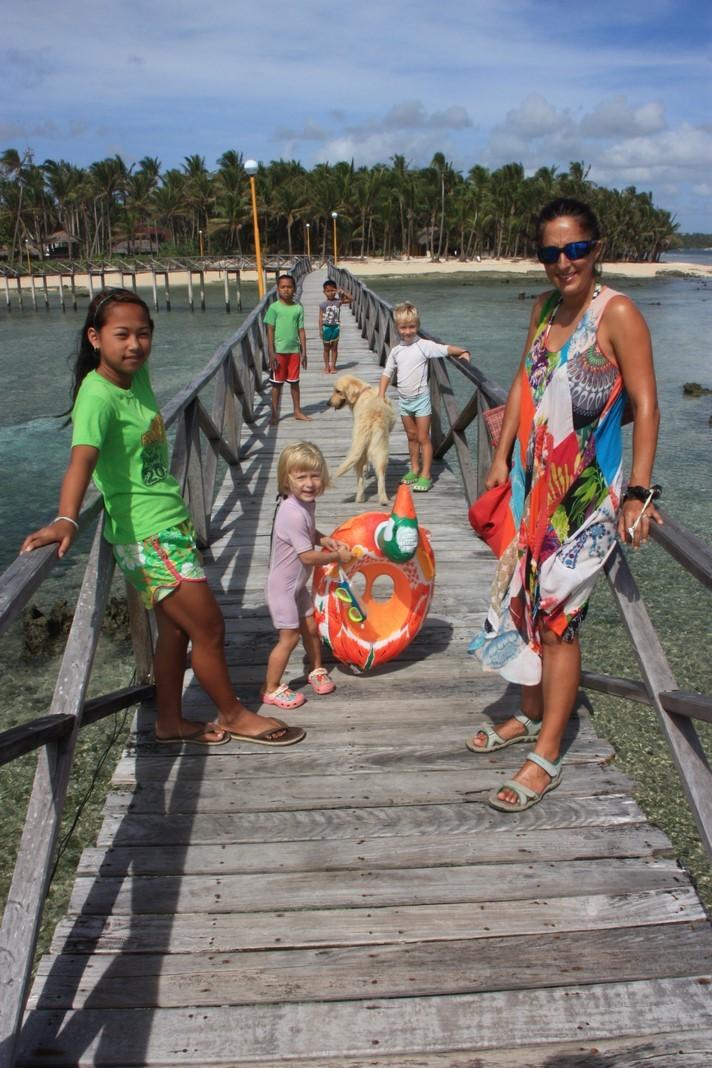 Sortie plage en famille avec Glory Ann, R R et Jok jok