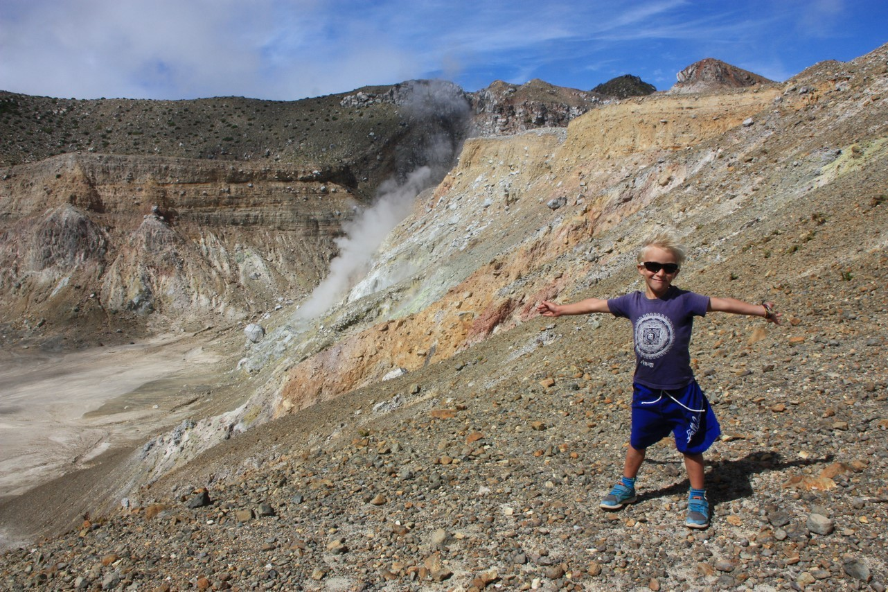 Et Mael au Mont Egon ! Volcan actif !