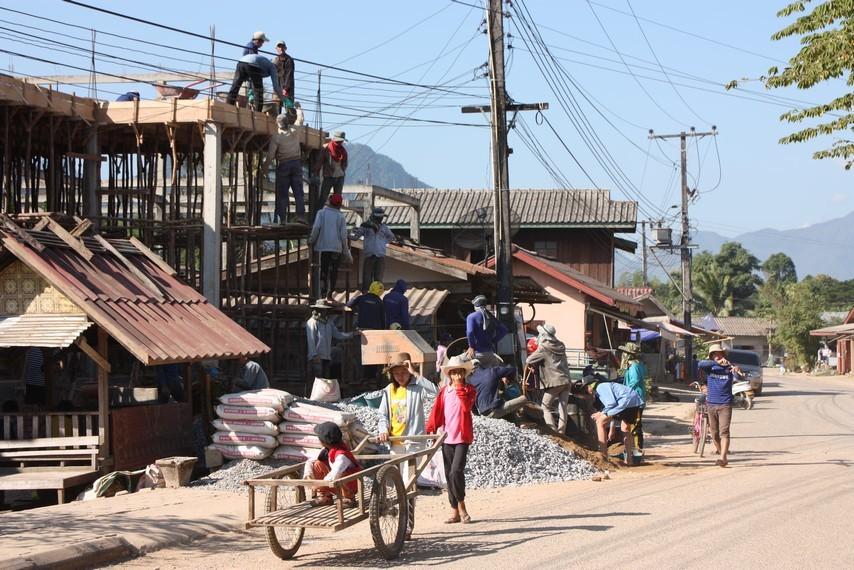 Le bâtiment au Laos