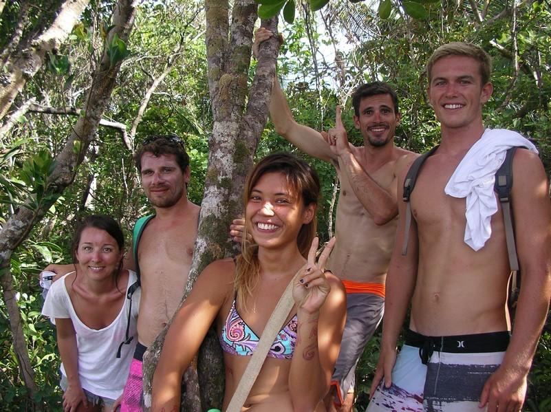 Marine, Jérémy, Louise, Pierre et Conor
