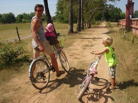 A vélo sur l'île de Koh Trong