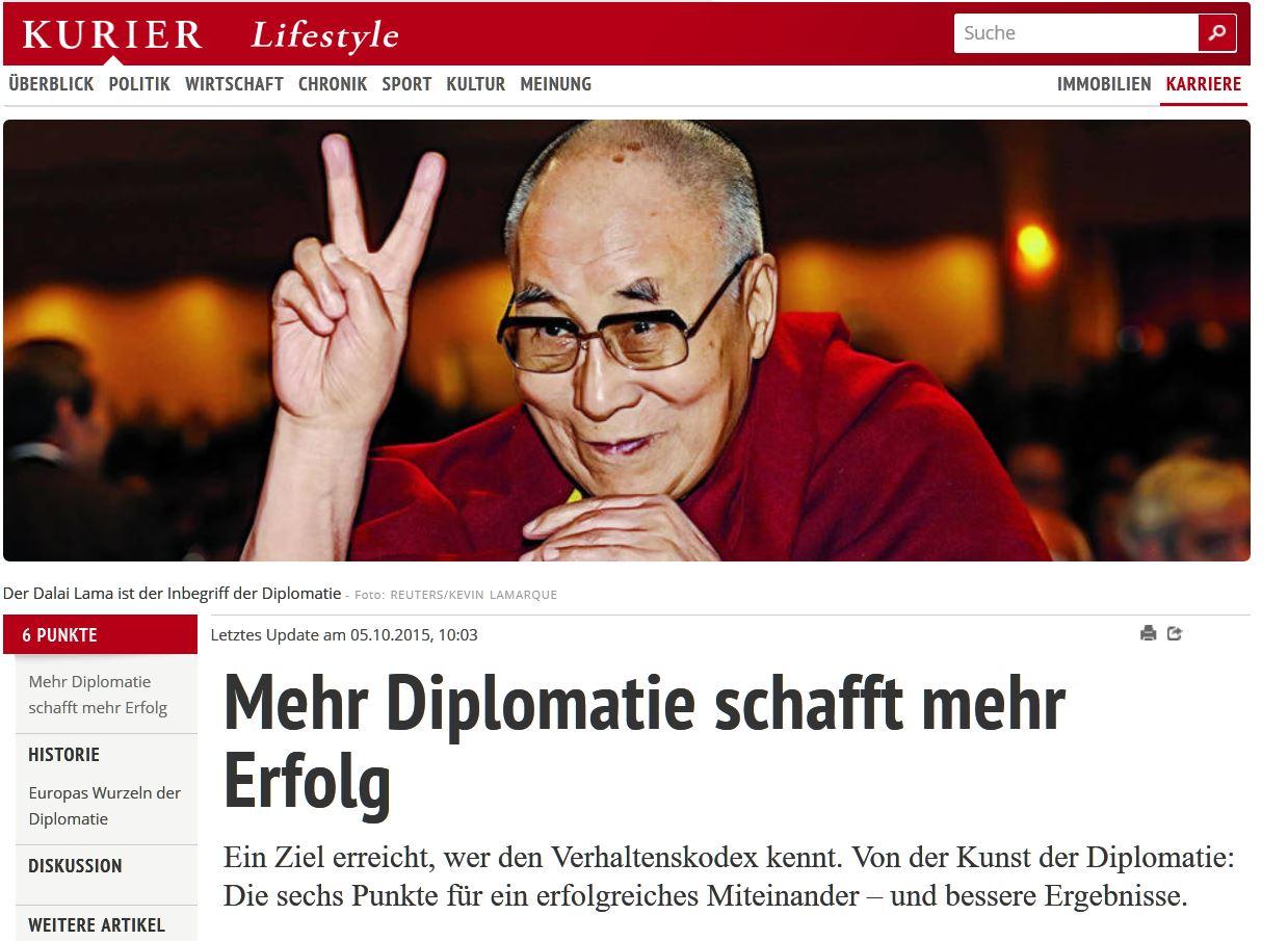 Mehr Diplomatie schafft mehr Erfolg 1