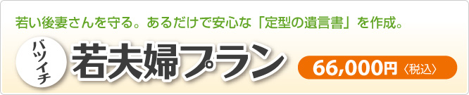 若い後妻を守る定型遺言書のバツイチ若夫婦プラン|新潟市東区
