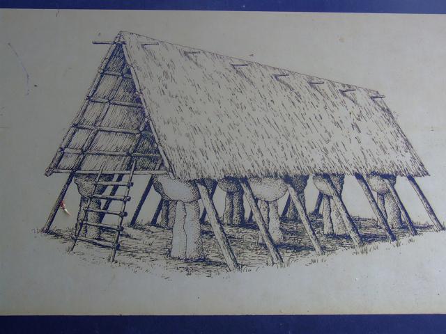 ラッテ・ストーンの復元図:家の土台と推定されている