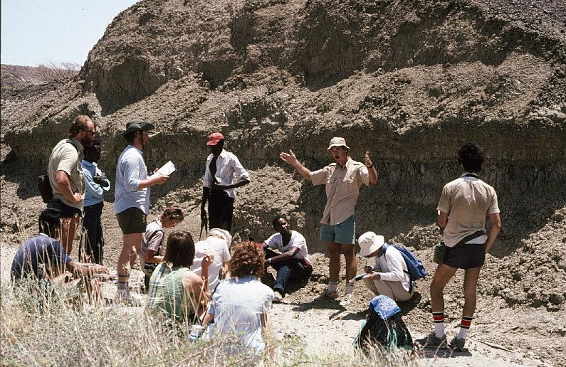 地質学実習風景