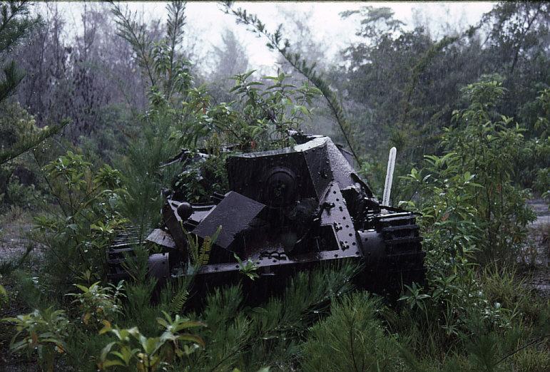 日本軍九五式軽戦車:砲塔は失われている