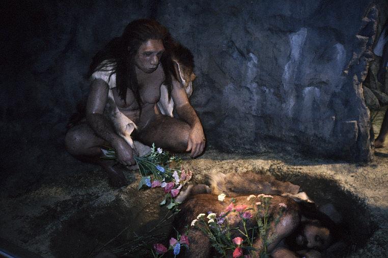 死者の埋葬のジオラマ近接2