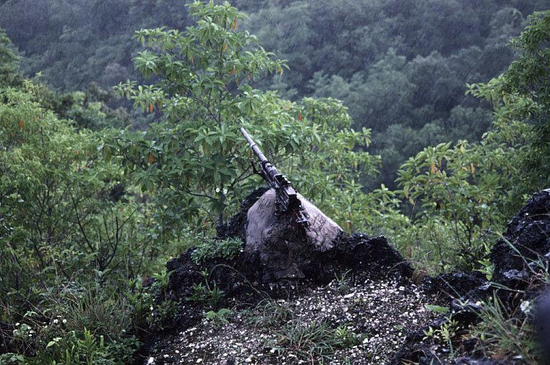 丘の上の機銃