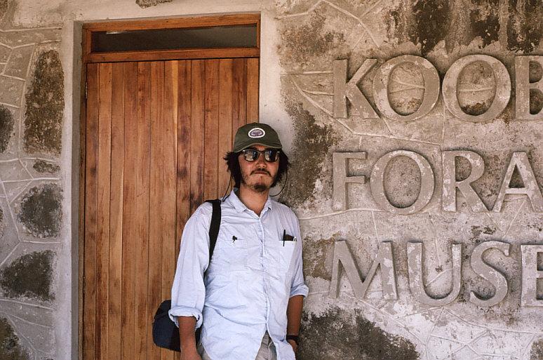 クービ・フォラ博物館入口の私