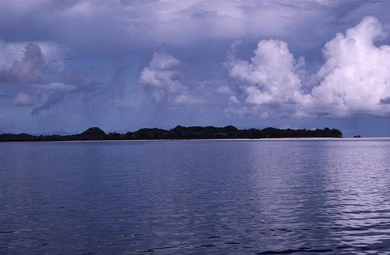 ペリリュー島遠景:1944年、この島で約1万名の日本軍が玉砕した