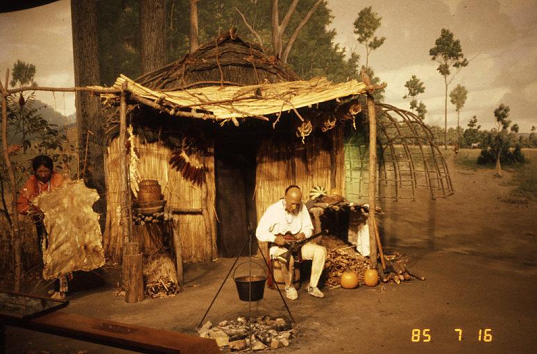 歴史時代のジオラマ:イリノイ州立博物館