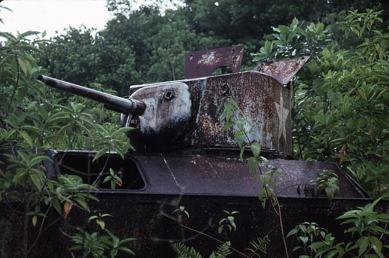 米軍水陸両用装軌車:LVT-A(1)砲塔部