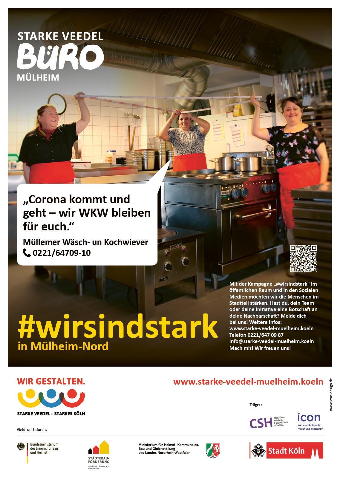"""Das erste Poster aus der Serie """"#wirsindstark"""""""" mit den Müllemer Wäsch- un Kochwiever"""