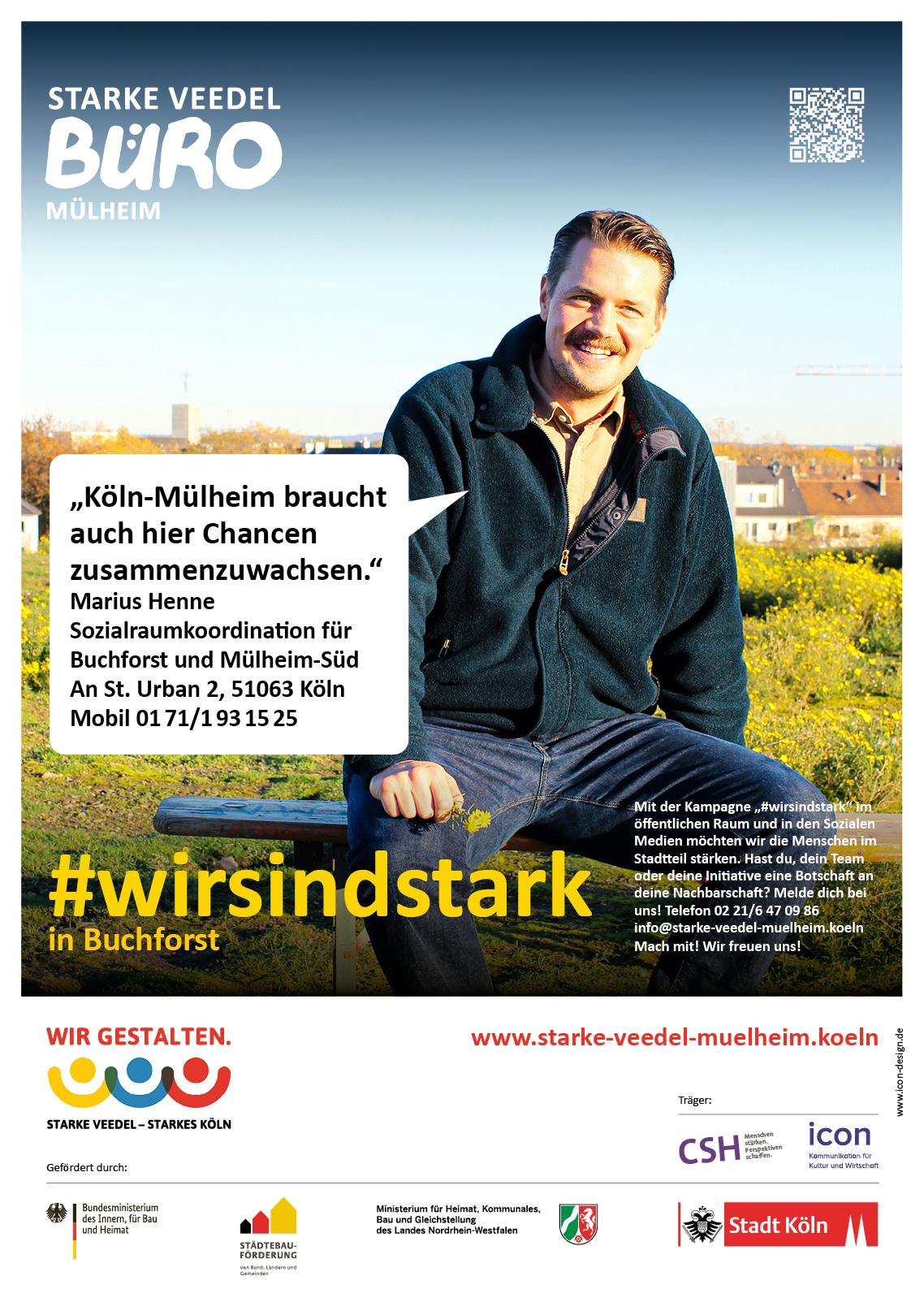 Marius Henne, Sozialraumkoordination Buchforst, Mülheim-Nord